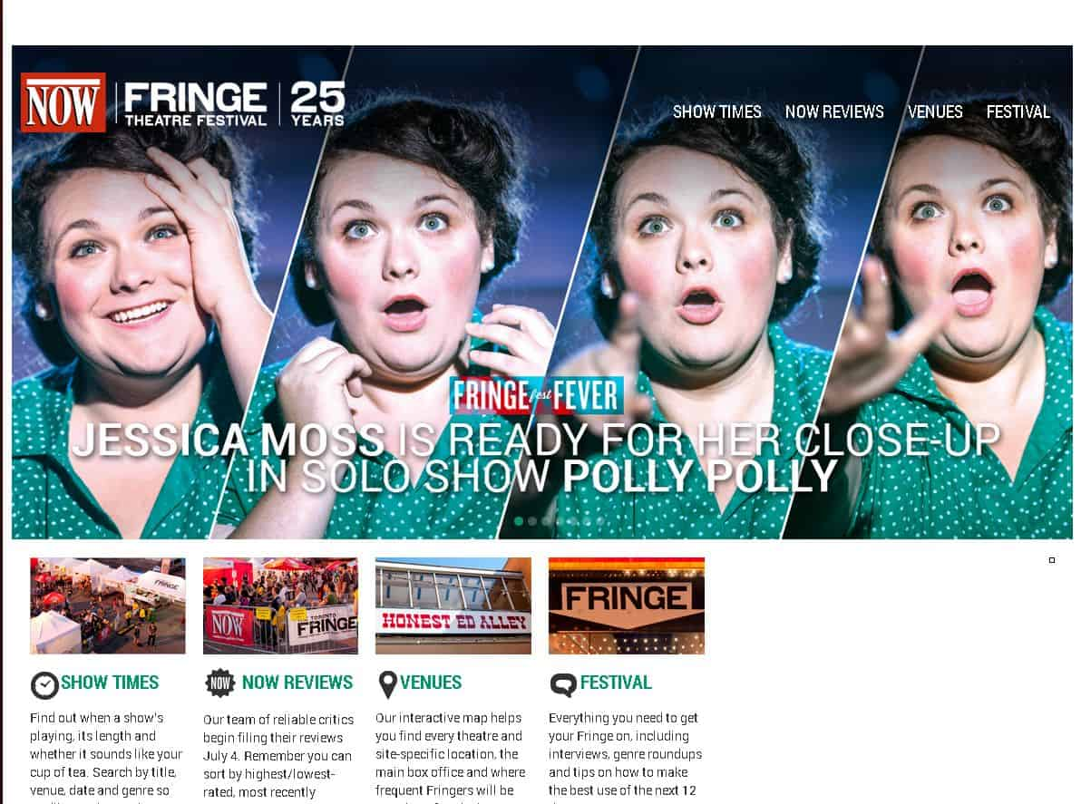 NOW Magazine's Fringe Micro-Site